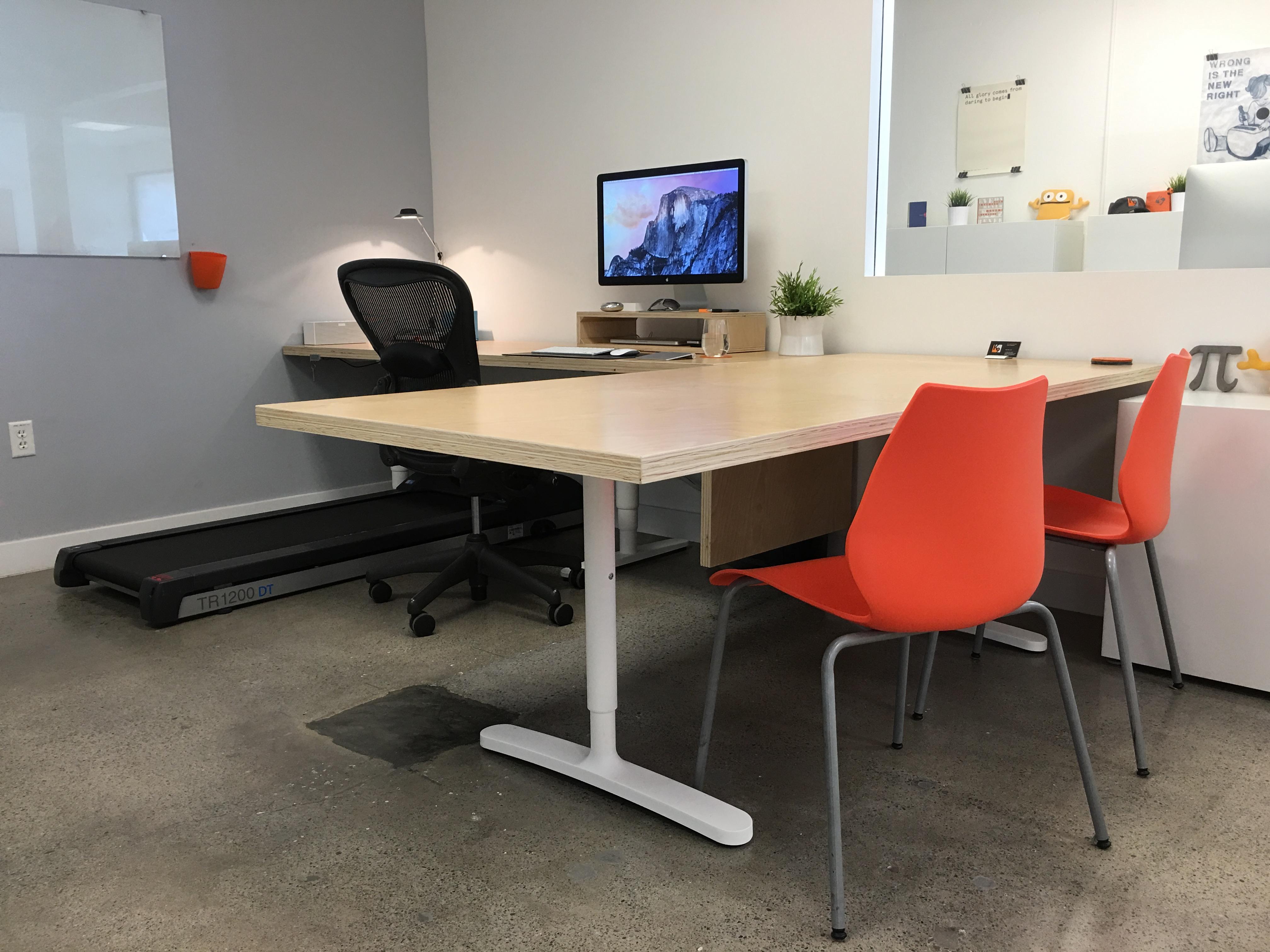 Sitting configuration. Working to Walk  Designing my Walking Desk   K9 Ventures